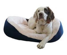 Rosewood Cable Knit perro cama, 50,8 cm, azul marino