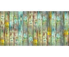 Vilber Gran Chef Wood Alfombra, Vinilo, Multicolor, 50x100x0.2 cm