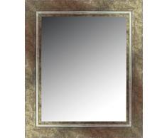 Lienzos Levante Espejo Decorativo Baño/Recibidor, Madera, Plata Verdosa, 97 x 76 cm