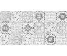 Viniliko Alfombra Boho Style, Vinilo, Gris, 50x100x0,26 cm