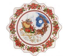 Villeroy & Boch 14-8332-2246 Plato para pastas Grande Toys Fantasy, Motivo Vuelo de Santa, 42 cm, en Festivo Embalaje de Regalo, Porcelana,, 44.5x45.5x7.0 cm