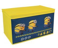 Fun House 712691 - Baúl para juguetes plegable de Los Minions/Gru, mi villano favorito, de tela y cartón, color amarillo (55,5 x 34,5 x 34 cm)