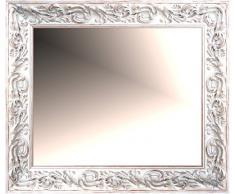 Lienzos Levante Espejo de Pared para Baño o Recibidor, Madera, Blanco Rozado, 94 x 73 cm