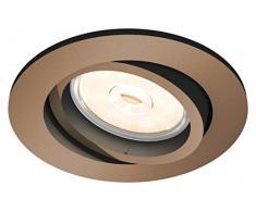 Philips myLiving Foco empotrable GU10, luz blanca cálida, iluminación interior, 5.5 W, marrón