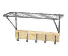Kitchencraft Industrial cocina estante de pared con ganchos, 32,5Â x 60Â x 25,5Â cm (1Â 1Â x 2 x 10Â )