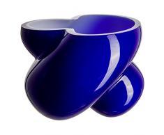 Cristal de Bohemia Energy Florero, Cristal, Azul, 16x16x15 cm