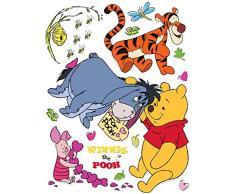 AG Diseño DKS 1086Disney Winnie The Pooh, Pegatinas de Pared, 30x 30cm–1Notebook, Papel, Colorful, 30x 30cm
