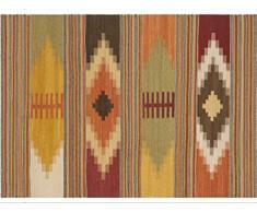 Vilber Bohemian Kilim 2576 Alfombra, Vinilo, Multicolor, 75x120x0.2cm