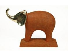 Caprilo Figura Decorativa Elefante Rojizo. Figuras Resina. 35 X 10 X 27 Cm.