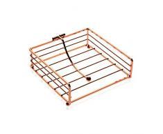 Versa 10030266 Servilletero Metal Cobre, 18,5x7x18,5cm, Metal, Organizador