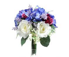 Bianchi Dino bq019 _ 04.jpg Ramo con Rosas y hortensias, acrílico, Blanco, 22 x 22 x 30 cm