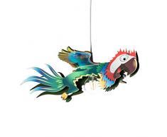 elobra lámpara Papagayo techo infantil para niños, madera, 40 W, color azul