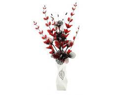 Flourish 724634 E13 – Florero con flor artificial de color rojo y negro, color rojo/negro, 80 cm, grande