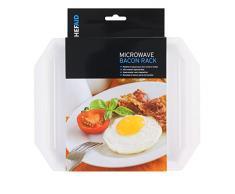 Chef Aid Bacon rack de microondas, color blanco