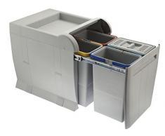 ELLETIPI City PTA 4045C Papelera Reciclaje extraíble para Base, Gris, 35x 47x 44cm