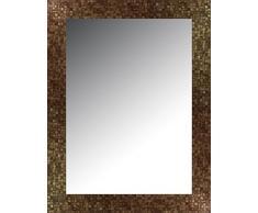 Lienzos Levante Espejo de Pared para baño o recibidor, Madera, Oro, 116 x 76 cm