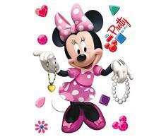 AG Diseño DKS 1084Disney Minnie Mouse, Pegatinas de Pared, 30x 30cm–1Notebook, Papel, Colorful, 30x 30cm