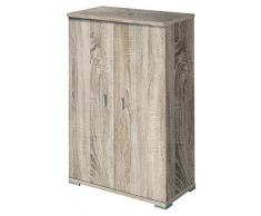 Pelayo Mobles 2214 CM - Zapatero, madera, color cambrian, 60.5x36x95 cm