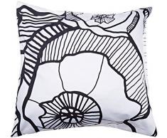 Esprit 100058 – 102 fr-001 Lora funda de almohada 65 x 65 cm Algodón/satén negro