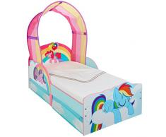 Hello Home Cama Infantil My Little Pony con Dosel, Madera, Multicolor, 142x77x128 cm