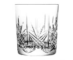 Crystaljulia Vaso de Whisky, Cristal, 280ml, 8 cm, 6 Unidades