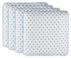 Blue Line Conforeva 4OR27 Almohada viscoelástica, poliéster, blanco, azul, 58 x 58 x 13 cm