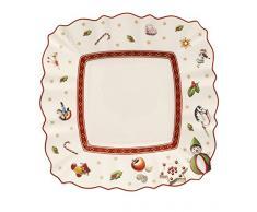 Villeroy & Boch 14-8585-2669 Plato para Pan Rectangular Toys Delight, para Navidad, 17 x 17 cm, Porcelana, Multicolor, 18.5x18.5x9.0 cm