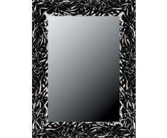 Lienzos Levante Espejo Decorativo baño/recibidor, Madera, Negro y Plata, 118 x 78 cm.