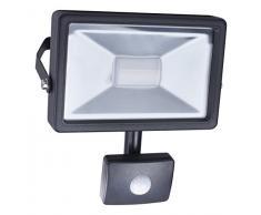 Smartwares 10.040.03 Foco LED con Sensor Exterior 20W 1300lm luz Natural Blanca SL1-B20B, Negro