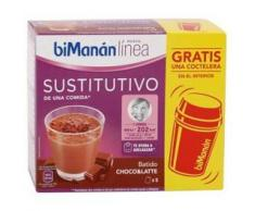 BiManán Sustitutivo de Comida 5 Sobres x 30 gr + Coctelera Sabor Cappuccino