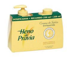 Heno De Pravia Jabón en crema dosificador + recambio 250 ml.