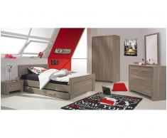 Dormitorio juvenil AUCKLAND de 5 Muebles Roble Mobila