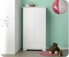 Armario bebé OSLO 2 puertas + 1 cajón Blanco