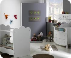 Mini dormitorio LINEA Blanco Cuna Plexi. Colchón incluido
