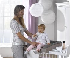 Cambiador de bebé, Paule, para cuna, Lino