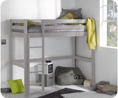 Pack cama alta Wood + Colchón, Lino