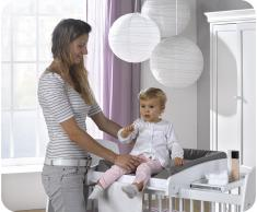 Cambiador de bebé, Paule, para cuna, Blanco