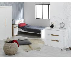 Dormitorio juvenil completo MILO Blanco
