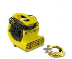 TROTEC Ventilador turbo TFV 10 S + Cable de Extensión Profesional de 20 m / 230 V / 2,5 mm²