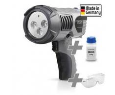 TROTEC Linterna UV-TrackMaster + Gafas de protección + Uranina