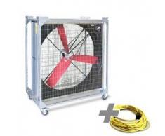 TROTEC Ventilador industrial TTW 45000 + Cable de extensión profesional 20 m / 400 V / 2,5 mm²