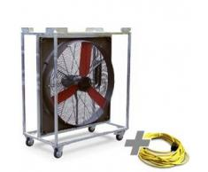 TROTEC Ventilador industrial TTW 20000 + Cable de extensión profesional 20 m / 230 V / 2,5 mm²