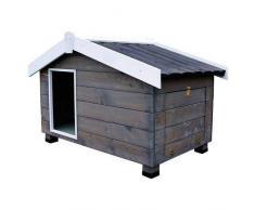 TK Pet Caseta de madera con porche para perros Mountain Gris