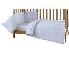 Clair de Lune – Juego de ropa para cuna juego de cama (gris, estrellas y rayas, 2 piezas)