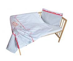 cosing 332 - 019 - 164 Juego de ropa de cama infantil algodón 2 piezas - My Zoo, color rojo