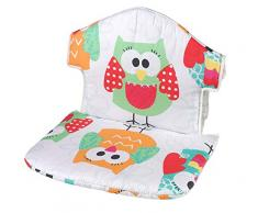 Geuther 4743 131 - Cojín para silla de bebé Swing, diseño búho, multicolor