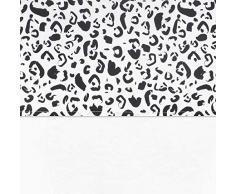 Jollein - Funda nórdica y funda de almohada, 120 x 150 cm, diseño de leopardo, 120 x 150 cm, color blanco