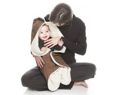 Wallaboo Nore - Manta para bebé muy práctica y ultra suave, 85 x 85 cm, color rojo