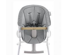 Béaba 912554- Cojin, asiento textil, para la trona estilo Up & Down, 6 meses a 3 años, Color Gris, Peso 600 gr