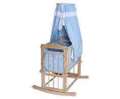 Dibea BB00430 - Cama en madera de bebé con dosel